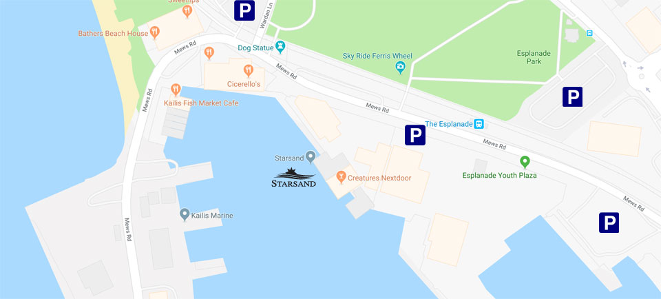 Parking locations in Fremantle